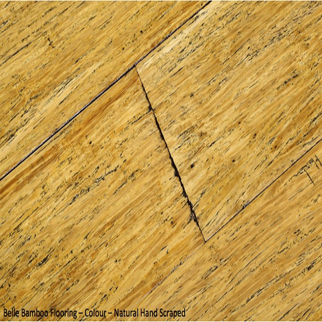 Belle Bamboo Flooring - Narural Hand Scrapped