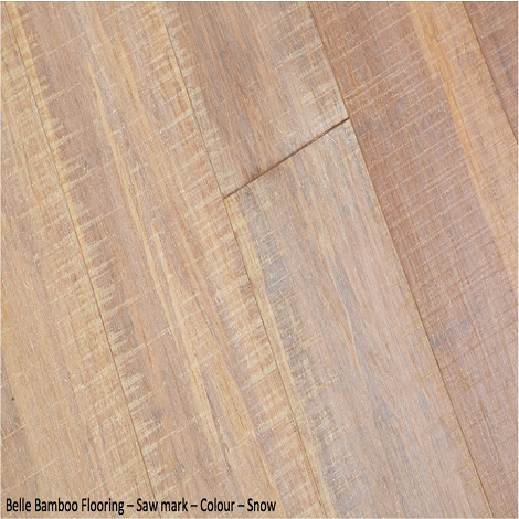 Belle Bamboo Flooring - Saw Mark Snow